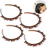 4 stuks Bangs Hairstyle haarspelden, kappershulp, haarband met klemmen, haarspelden, kappersbenodigdheden, hoofdband, haaracc