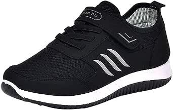 Riou Scarpe Piatto Uomo Respirabile Mesh Sportive All'aperto Sneakers con Lacci Scarpe da Escursionismo Unisex Morbida Antiscivolo Scarpe da Trekking per Coppia