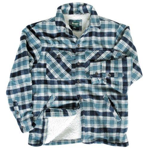 Hoggs professionale deluxe Sherpa foderato in pile lavoro camicia/giacca Blue M-Petto 52-54