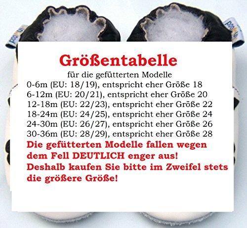 Lederhausschuhe GEFÜTTERT - Krabbelschuhe - Jinwood - SOCCER BLACK - Baby - Kinder - Schuhe - Leder Black