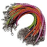50PCS Bracelet making Cord, cordoncini Lystaii multi colore bracciale in corda fai-da-te per ciondoli con moschettone per bracciali gioielli artigianali 23,5cm intrecciato corde per cinturino