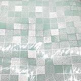 dooxoo 44 x 200 cm Küche PVC Aluminium Folie self-adhensive Mosaik Aufkleber Öl Tapete Wand Aufkleber Badezimmer Spiegel Wasserdicht Wandtattoo - dunkelgrau