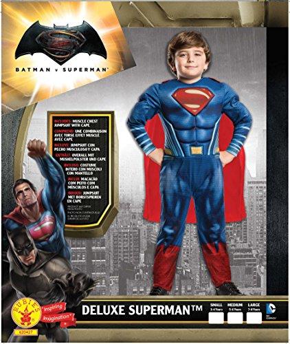 Imagen de rubies superman  disfraz batman v superman para niños, talla m, edad 5 6 años altura 116cm / cintura 53cm  alternativa