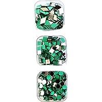 Diva Small Sizes Round, Square and Diamond Mirror Kit with Storage Box (Total - 150 pcs Mirror)