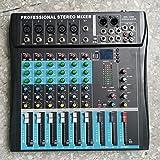 CT6 6 canale professionale stereo Mixer Live Audio stereo della consolle Vocal Effect Processor con 4-CH Mono & Ingresso Stereo 2-CH (nero)