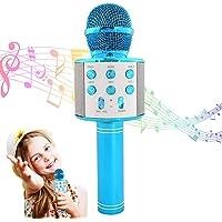 Microphone Karaoké Bluetooth sans fil, Micro Lecteur karaoké KTV pour enfant, Portable Machine à karaoké enregistrement…
