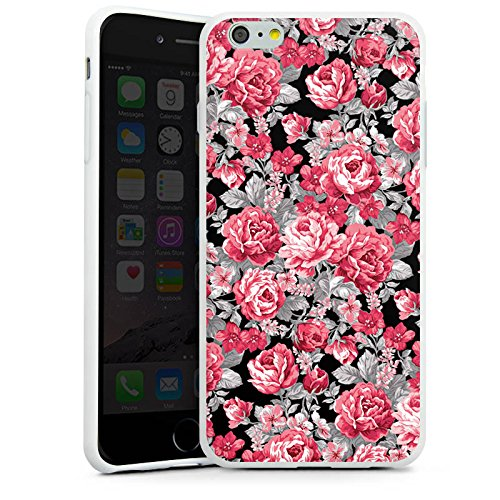 Apple iPhone X Silikon Hülle Case Schutzhülle Blumen Bunt blumenmuster Silikon Case weiß