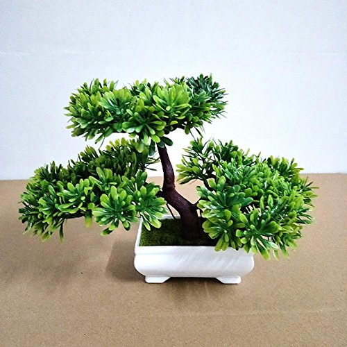 LWBAN-plant Plante Artificielle Bonsaï cèdre Artificiel en Pot, Arbre Artificiel/Bonsai déco, Hauteur 20 cm, 31
