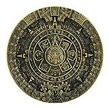 Azteca Calendario Maya color bronce metal hebilla de cinturón