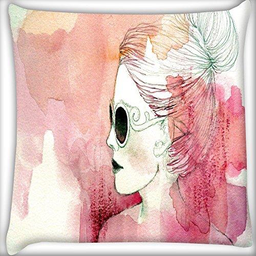 Frau mit Sonnenbrille Home Decor Werfen Sofa Auto Kissenbezug Kissen Fall 45,7x 45,7cm