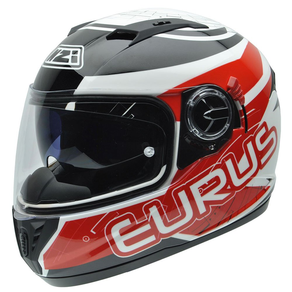NZI 050286G716 Eurus S Graphics Sporty, Casco da Moto, Bianco/Nero/Rosso, Taglia S