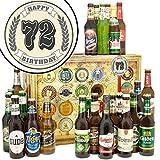 72 Zahl Klassik   Bierbox   Biere aus aller Welt und Deutschland   72 Zahl Klassik   Biergeschenke   Geschenke zum 72 Geburtstag papa   INKL Geschenkkarten + Umschläge 6x, 3x Urkunde, Bier Bewertungsbogen