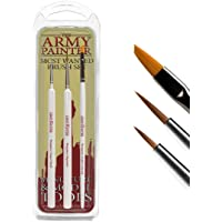 The Army Painter 🖌   Most Wanted Brush Set   3 pinceaux : Regiment, Insane Detail et Small Drybrush, en Poils…