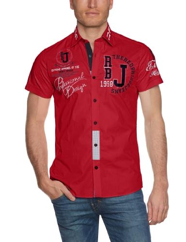 Redbridge Herren Regular Fit Freizeithemd R-2123, Gr. Kragenweite: 44 cm (Herstellergröße: XL), Rot (Red 072) (Kurzarm-freizeithemd)