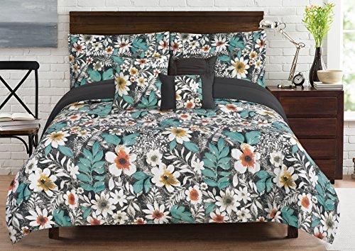 RT Designer Collection cmb01163K Bloomfield 6bedruckt Tröster Set, Queen