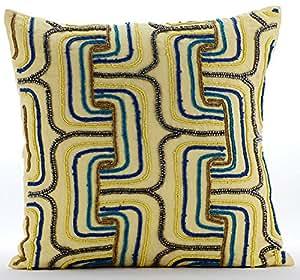 Giallo cuscini accento multi color rilievo maze lattice for Divano wonder