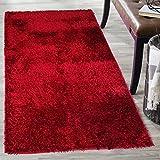 #10: Cloth Fusion Premuim Shaggy Carpet for Living Room 3 Feet x 5 Feet (Red)