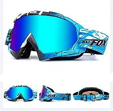 IHRKleid Motorrad Goggle Motocross Wind Staubschutz Fliegerbrille Snowboardbrille Schneebrille Skibrille Wintersport Brille Dirtbike Off-Road Schutzbrille