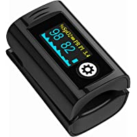 Pulse Oximeter Fingertip, OLED Screen Display, Blood Oxygen Saturation Monitor with Pulse Rate and Accurate Fast Spo2…