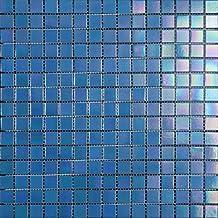 Mosaico de Vidrio en Malla DEC-74291AXT005, Azul, 4 mm, 32.7 x