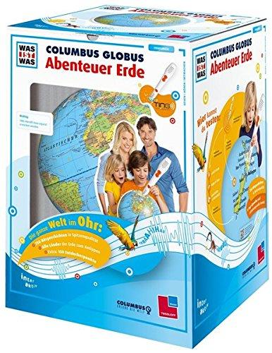 """Preisvergleich Produktbild WAS IST WAS Columbus Globus """"Abenteuer Erde"""": Ohne TING-Stift (TING - Spielen, Lernen, Wissen)"""