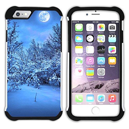Graphic4You Schnee Schneeflocke Winter Muster Hart + Weiche Kratzfeste Hülle Case Schale Tasche Schutzhülle für Apple iPhone 6 / 6S Design #22