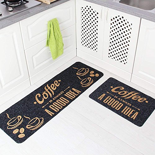XCJ Kitchen Floor Mats/Foot Pad/Doormat/Door Strip-Slip Suction Bath Mat/Mats in The Hall or in The Bathroom -E 50X80Cm(20X31Inch),A,40x60cm(16x24inch) (Mat 16 20 X)