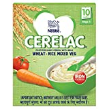 Nestlé Cerelac Fortified Baby Cereal with Milk – 10 Months+, Stage 3, Wheat-Rice Mixed Vegetable, 300g