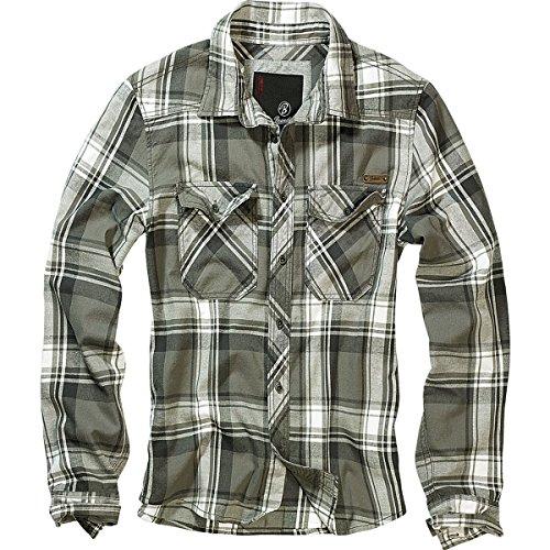 Brandit Check Shirt Herren Flanell Hemd B-4002 Grün