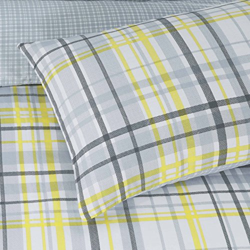 Yellow Check Duvet Reversible Quilt Comforter Cover + PillowCases Double (3 Sizes Avaliable)