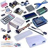 Set / Kit for Arduino - Quimat Projekt Komplettes Vollständige Ultimate Starter Kit for Arduino UNO R3 Mikrocontroller und viel Zubehör Mega 2560 Roboter Nano Breadboard Kits mit Tutorials