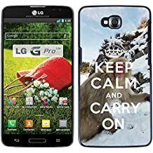 Print Motif Coque de protection Case Cover // Q01015493 keep calm and carry on 740 // LG G Pro Lite D680