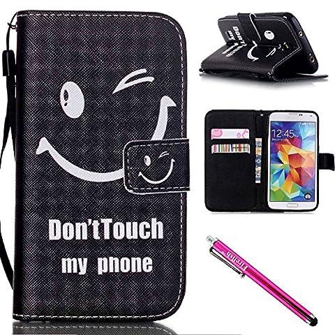 Coque Galaxy S4 mini, Firefish [Kickstand] Flip Folio Wallet Cover Résistance aux chocs Shell de protection avec des cartes Slots Fermeture magnétique pour Samsung Galaxy S4 mini i9190/9192/9195