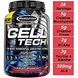Muscletech Suplemento para Deportistas Cell Tech 3LB, Sabor Fruit Punch - 1400 gr