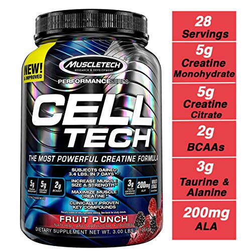 Muscletech Performance Series Cell-Tech, Fruit Punch, 1400 g -