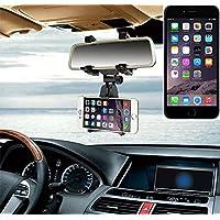Supporto Smartphone specchietto retrovisore per Apple iPhone 6 Plus, nero | Specchio Holder staffa auto - K-S-Trade (TM) - Guida All'acquisto Holder