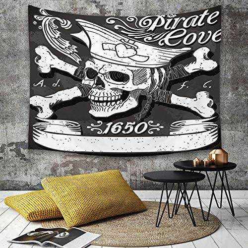 Piraten Wirbelt - Tapestry, Wall Hanging, Pirat, Piratenbucht Flagge