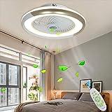 Ventilateur De Plafond Avec Éclairage Moderne Plafonnier De LED Au Plafonnier LED Réglable Vitesse Du Vent Dimmable Télécomma