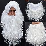Santa Claus perruque et barbe ensemble Costume accessoire adulte Noël fantaisie robe meilleur cadeau de Noël