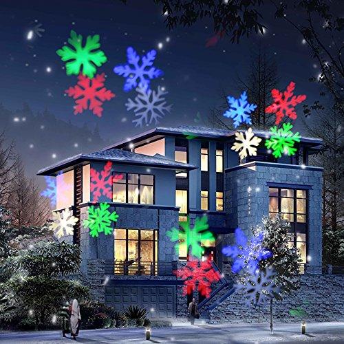 COOSA (12 Diapositive Progettate esclusivamente) Luce di Proiezione (RGBW 4 colori LED) Luce di Proiettore di Natale LED per il giorno di Natale, Halloween, Giorno del Ringraziamento, Compleanno, Paesaggio e Decorazione da Giardino (1)