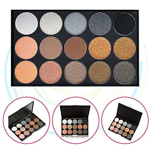 15 Couleur Palette pour ombre à paupières, Bold et Bright Collection, Vivid, KRABICE Ensemble de maquillage de palette pour ombre à paupières (15 palette pour ombre à paupières) #2
