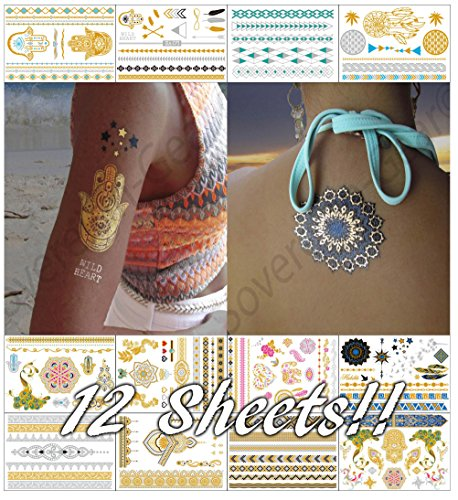 metallic-temporary-tattoos-for-women-teens-girls-12-sheets-gold-silver-temporary-tattoos-glitter-tat