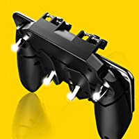 House Of Sensation AK66 Six Finger All-in-One Mobile Game Controller Fire Key Button for PUBG (Black)