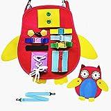 Felly Montessori Bebé Activo Tablero Ocupado, Juguetes Educativo Temprano de Habilidades Básicas para la Vida para Aprender C