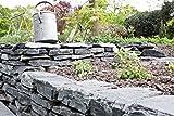 Mauersteine Schiefer schwarz, teilweise gespalten, ca. 15-40 cm, 750 Kg im Big Bag