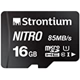 Strontium Nitro 16GB Micro SDHC Memory Card 85MB/s UHS-I U1 Class 10 High Speed for Smartphones Tablets Drones Action…