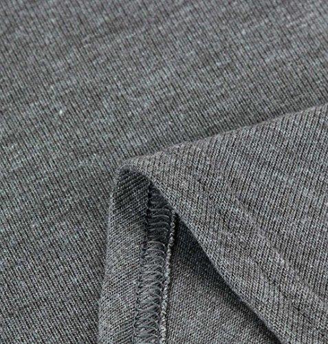 ♪ZEZKT♪Halb Schulter Übergröße Bluse Damen Langarmshirt Off Shoulder Stickerei Oberteile Lässig Bluse Jumper Tops T-Shirt Schulter Long Sleeve Loose Fit Bluse Rundhals Frühling Grau