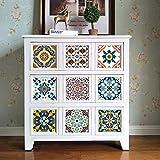 Topmail Decorativos Adhesivos Para Azulejos Pegatina de pared, decorativo cuadrado, efecto de 3D con diseño de Europeo para Cocina o Cuatro de Baño 10 piezas(15x15CM)