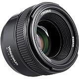 Yongnuo, obiettivo YN50 mm F1.8, grande apertura per autofocus FX DX, lente full frame per Nikon, con panno di pulizia marca Andoer® Cloth