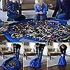 Almondcy bambino giocattolo del sacchetto di immagazzinaggio pieghevole dei bambini stuoia giocattolo del bambino Organizzatore Borsa a tracolla 60 pollici (blu)